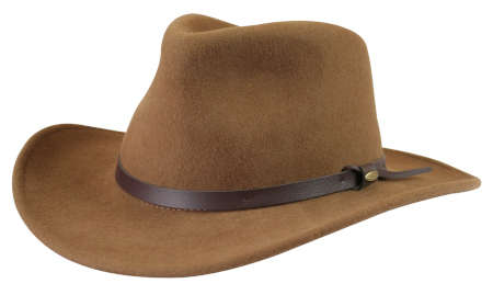 Victorian Mens Tan,Brown Wool Felt Wide Brim Hat | Dickens | Downton Abbey | Edwardian || Western Cowboy Hat - Pecan