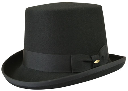 Regency Top Hat - Black Wool