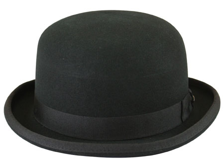 Wedding Mens Black Wool Felt Derby | Formal | Bridal | Prom | Tuxedo || Deluxe Felt Derby - Black