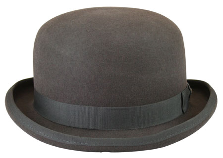 Victorian Mens Gray Wool Felt Derby | Dickens | Downton Abbey | Edwardian || Deluxe Felt Derby - Charcoal
