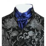 Victorian,Old West,Regency, Mens Ties Blue Satin,Synthetic Solid Cravats |Antique, Vintage, Old Fashioned, Wedding, Theatrical, Reenacting Costume |