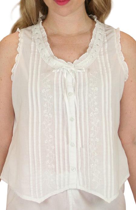 Summer Cotton Camisole - White