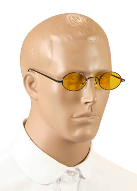 Wedding Mens Yellow,Black Alloy,Plastic Sunglas | Formal | Bridal | Prom | Tuxedo || Shadow Sunglasses - Yellow