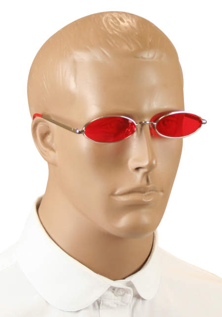 Steampunk Mens Red,Silver Alloy,Plastic Sunglas | Gothic | Pirate | LARP | Cosplay | Retro | Vampire || Cryptic Sunglasses - Red
