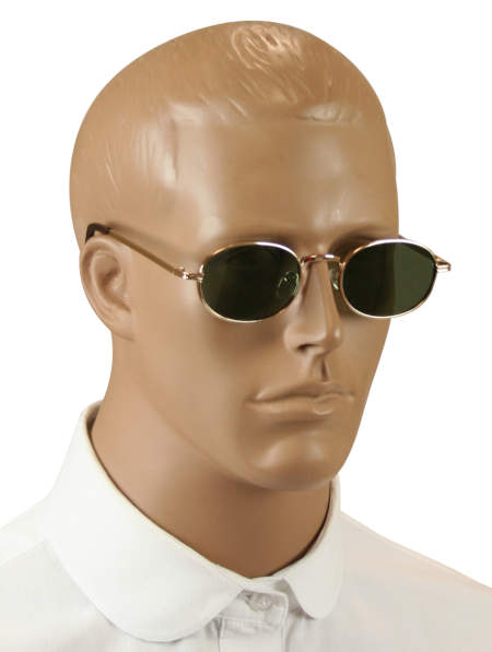 1800s Mens Gold Alloy,Plastic Sunglas | 19th Century | Historical | Period Clothing | Theatrical || Ulysses Sunglasses - Gold