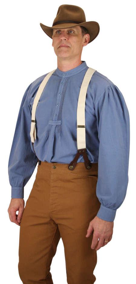 Wedding Mens Blue Cotton Solid Band Collar Work Shirt   Formal   Bridal   Prom   Tuxedo    Fundamental Work Shirt - Slate Blue