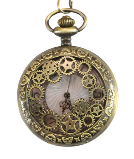 1800s Mens Brass Alloy Quartz Watch | 19th Century | Historical | Period Clothing | Theatrical || Cogs Pocket Watch - Brass