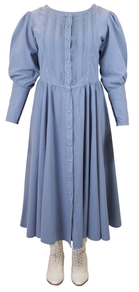 Cordelia Pioneer Dress - Slate Blue