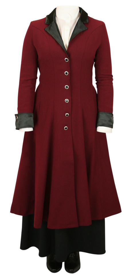 Veronica Frock Coat - Burgundy