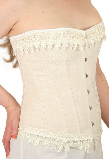 Desiree Overbust Fashion Corset - Beige