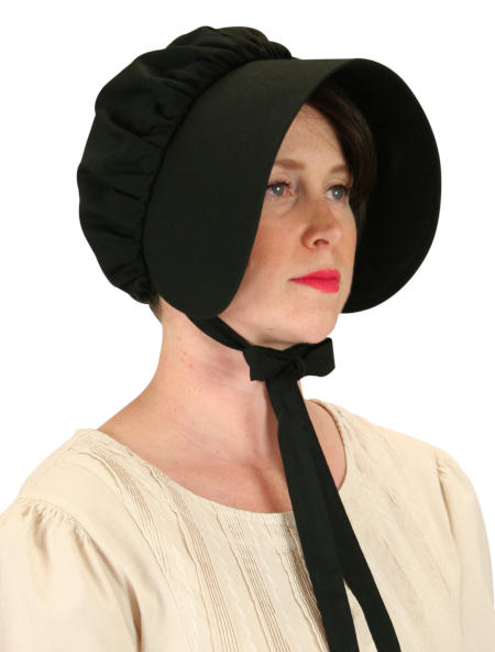 Cotton Bonnet - Black