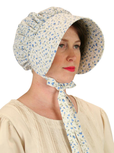 Cotton Bonnet - Blue Floret