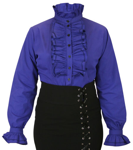 Emmeline Ruffle Blouse - Blue