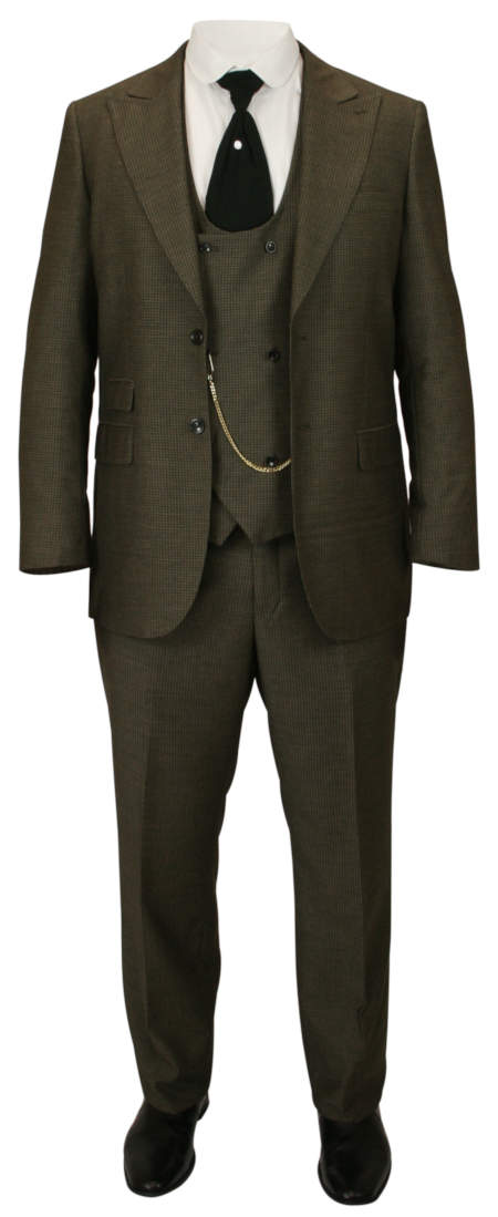 Worthington Suit - Olive Brown Wool