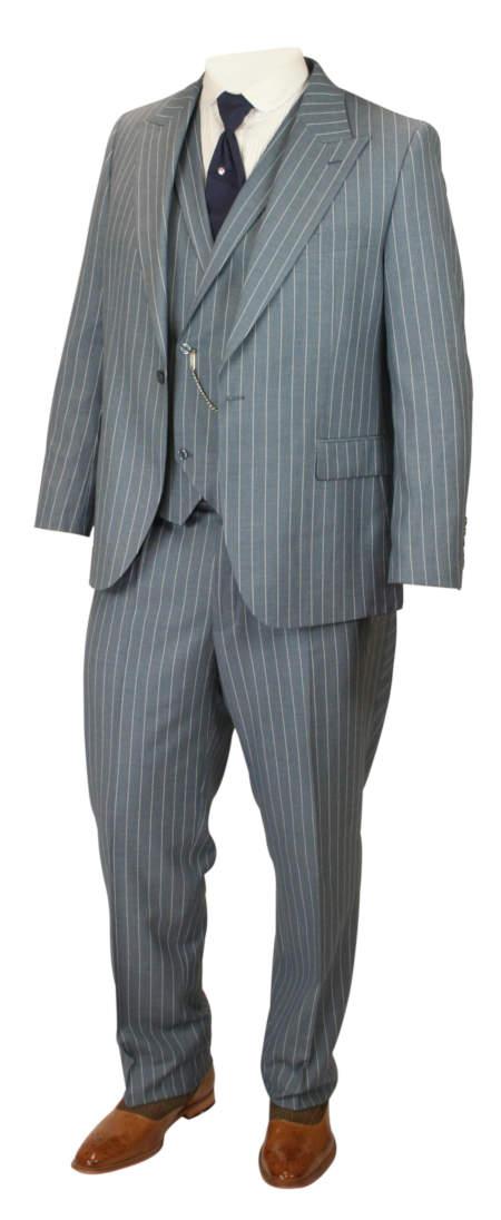 Granville Suit - Slate Blue Stripe