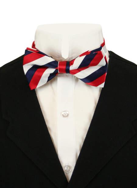 Dandy Bow Tie - Red/White/Navy Stripe