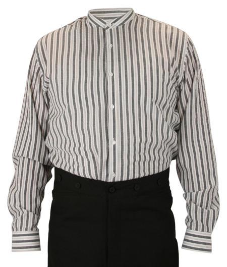 Whitley Shirt - Gray Seersucker