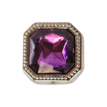 Vintage Mens Purple Metal Tie Tack | Romantic | Old Fashioned | Traditional | Classic || Silver Square Tie Tack - Amethyst