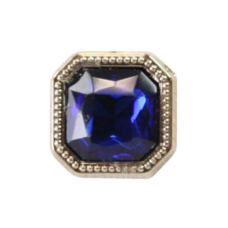 Wedding Mens Blue Metal Tie Tack | Formal | Bridal | Prom | Tuxedo || Silver Square Tie Tack - Sapphire