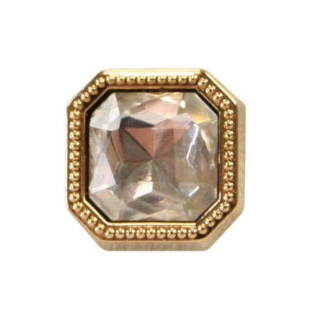 1800s Mens Clear Metal Tie Tack | 19th Century | Historical | Period Clothing | Theatrical || Gold Square Tie Tack - Diamond