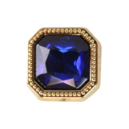 Vintage Mens Blue Metal Tie Tack | Romantic | Old Fashioned | Traditional | Classic || Gold Square Tie Tack - Sapphire