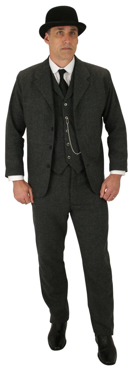 Wedding Mens Gray Herringbone,Solid Notch Collar Sack Coat | Formal | Bridal | Prom | Tuxedo || Sack Coat - Gray Herringbone Tweed