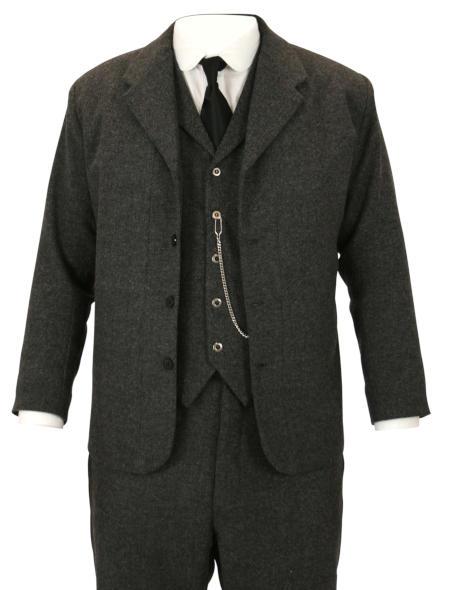 Sack Coat - Gray Herringbone Tweed