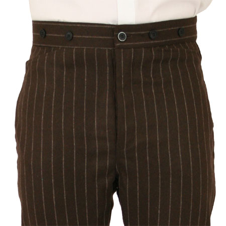 Bosworth Trousers - Brown Pinstripe