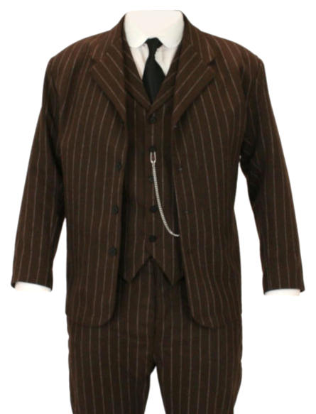 Bosworth Sack Coat - Brown Pinstripe