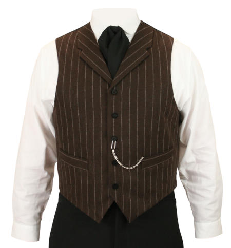 Bosworth Vest - Brown Pinstripe