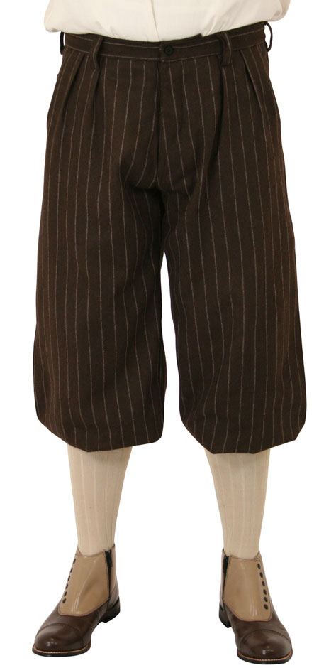 Bosworth Knickers - Brown Pinstripe