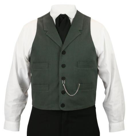 Patterson Brushed Cotton Vest - Charcoal