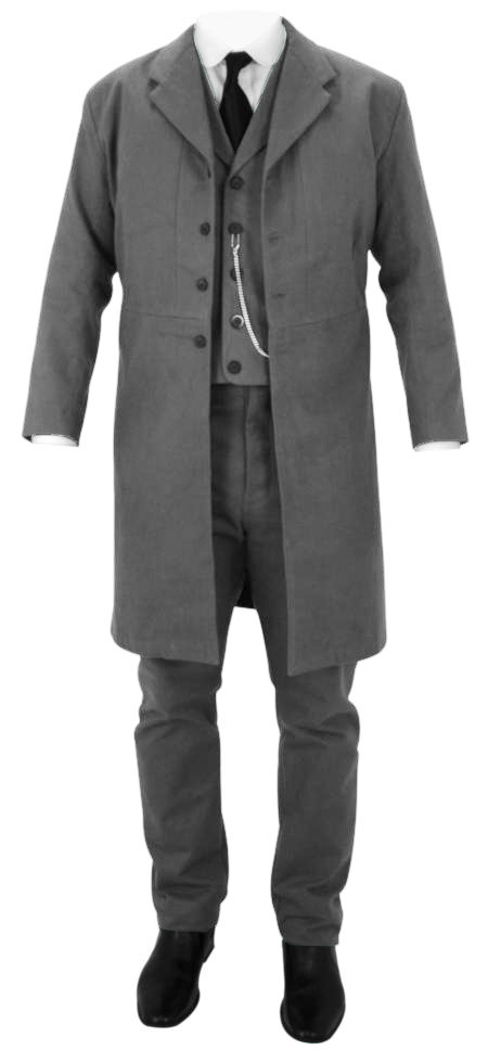 Patterson Brushed Cotton Frock Coat - Charcoal