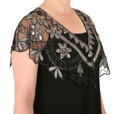 Aileen Beaded Capelet - Silver