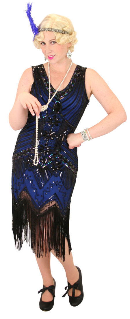 Tallulah Flapper Dress - Blue