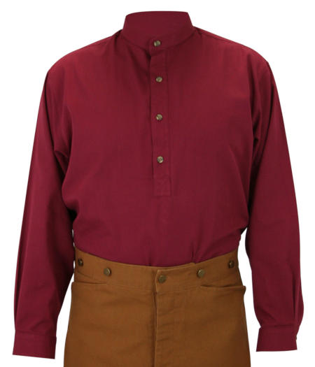 Zebulon Work Shirt - Burgundy