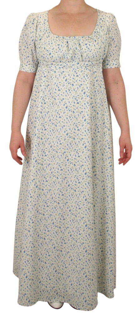 Rebecca Regency Dress - Blue Floret