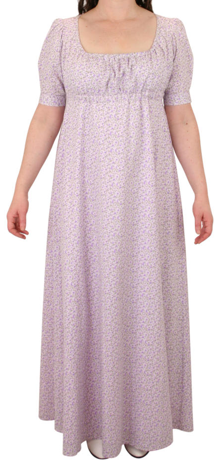 Rebecca Regency Dress - Purple Floral