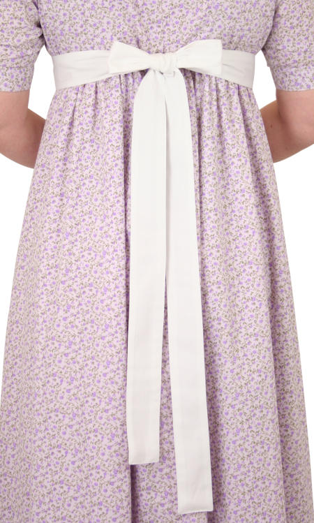 Ladies Cotton Sash Belt - White