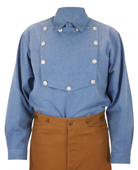 Longview Bib Shirt - Denim