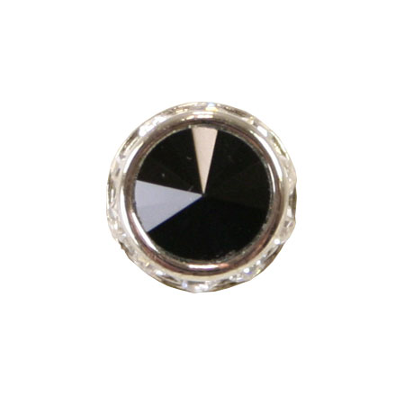 Steampunk Mens Black Metal Tie Tack | Gothic | Pirate | LARP | Cosplay | Retro | Vampire || Silver Faceted Tie Tack - Jet