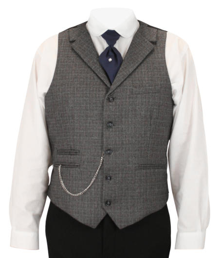 Burnley Vest - Gray Plaid