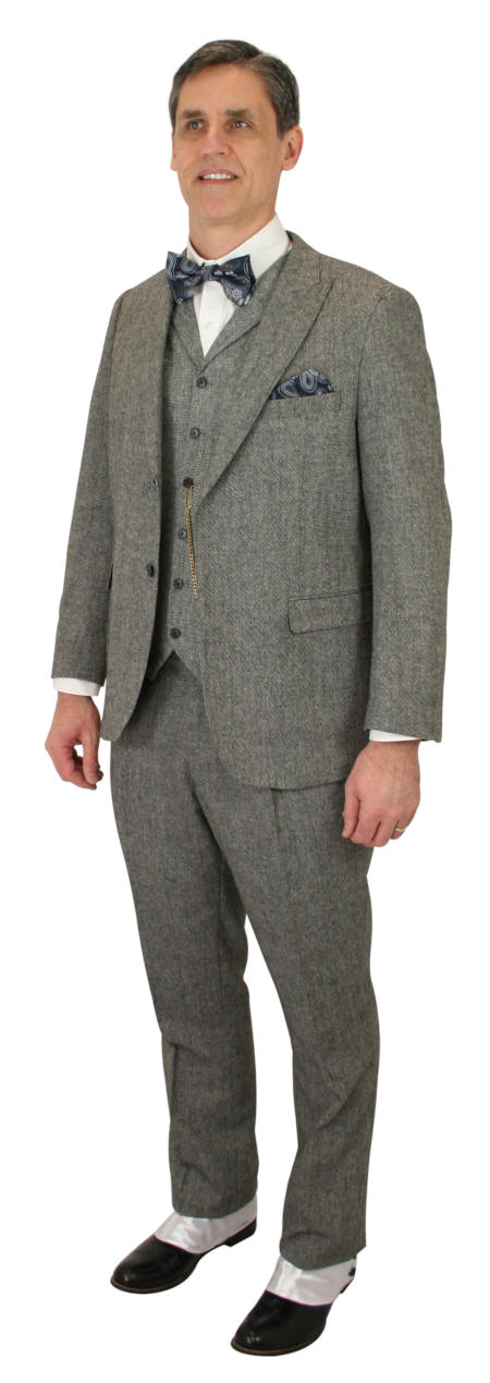 Vintage Mens Black,Gray Suit | Romantic | Old Fashioned | Traditional | Classic || Buckland Suit - Black Tweed
