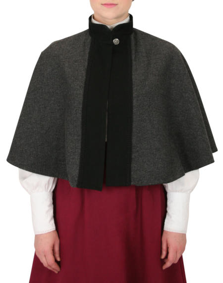 Abigail Capelet - Gray Herringbone Tweed