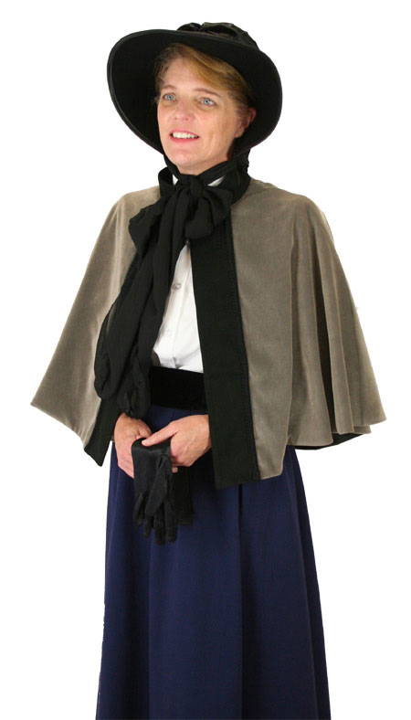Wedding Ladies Gray Wool Blend Solid Stand Collar Capes | Formal | Bridal | Prom | Tuxedo || Abigail Faux Suede Capelet - Gray
