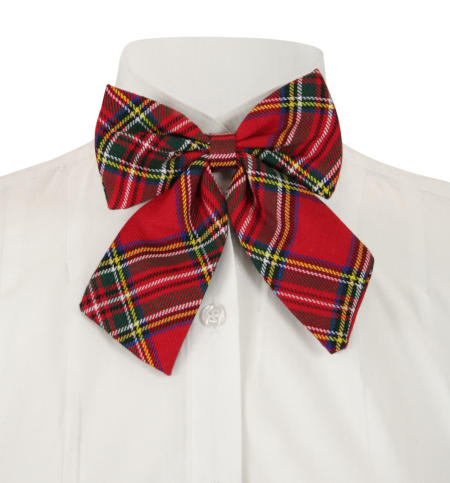Vintage Ladies Red Bow Tie | Romantic | Old Fashioned | Traditional | Classic || Ladies Plaid Bow Tie