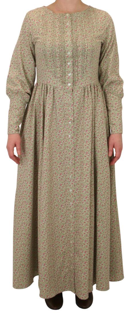 Beatrice Prairie Dress - Sage Floral