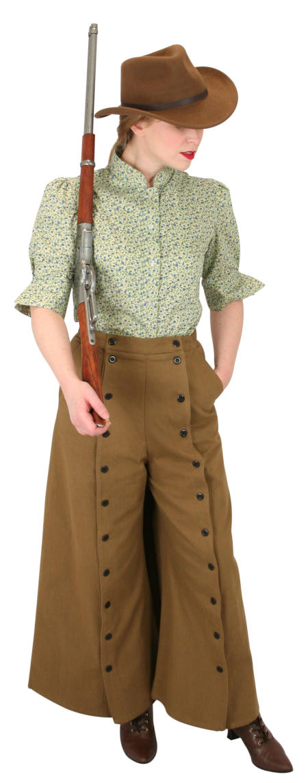Wedding Ladies Brown Cotton Solid Work Skirts,Riding Pants | Formal | Bridal | Prom | Tuxedo || Classic Convertible Riding Skirt - Brown