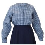 Victorian,Old West, Ladies Blouses Blue Cotton Plaid Traditional Fit Blouses,Colorful Blouses |Antique, Vintage, Old Fashioned, Wedding, Theatrical, Reenacting Costume |