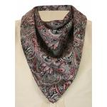 Premium Silk Paisley Neckerchief - Black/Burgundy